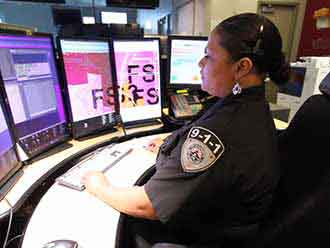 911 Dispatcher at Work